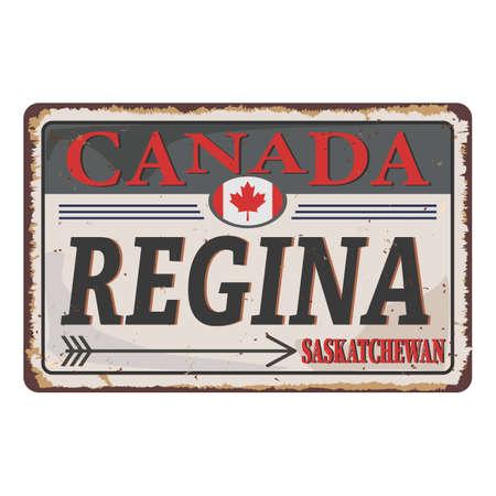 An Sign Road of Canada REGINA, vector art image illustration