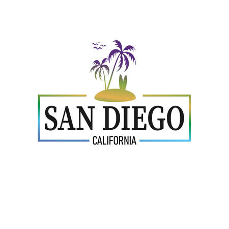 Frame San Diego logo design Vector graphic badge
