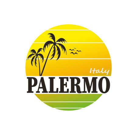 Palermo in Italy, vector cartoon illustration on a white background Ilustrace