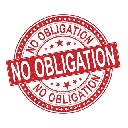 No obligation rubber grunge texture sealon a white background 일러스트
