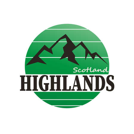 Scotland Highlands written inside the logo badge