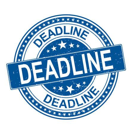 deadline. stamp. blue round grunge vintage deadline sign.