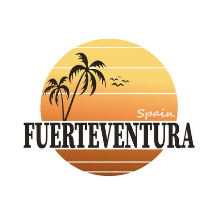 Fuerteventura stamp on white background, vector illustration Vettoriali