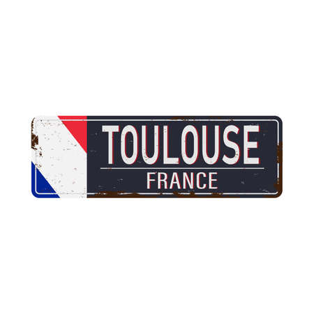 Toulouse France - city road sign - signage board
