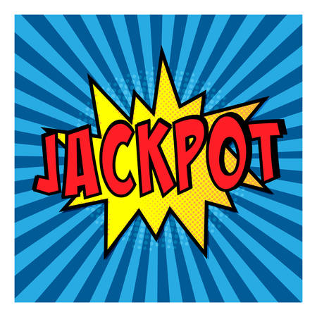 Jackpot Comic Speech Bubble. Vector illustration Illustration