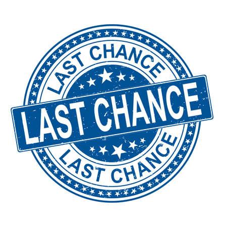 last chance offer grunge stamp on vector illustration