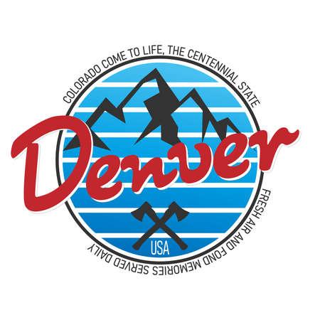 Denver Colorado logo. Vector and illustration on a white background