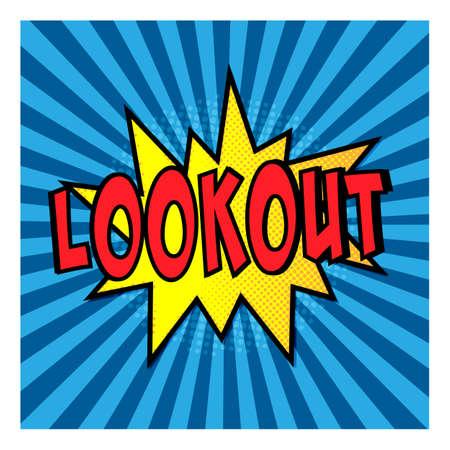 lookout explosion concept business pop art retro Иллюстрация