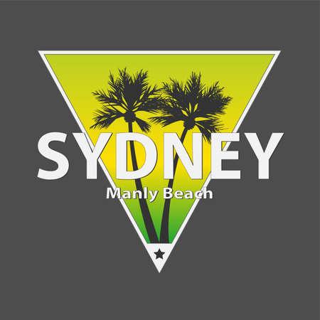 Sydney manly palm beach vector art t-shirt design illustration