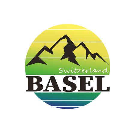 Round Travel Stamp. Icon Design. Seal Tourism Ribbon. Иллюстрация