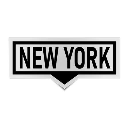 New York word on sticker- vector illustration Illustration