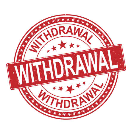 red withdrawal grunge stamp with on vector illustration