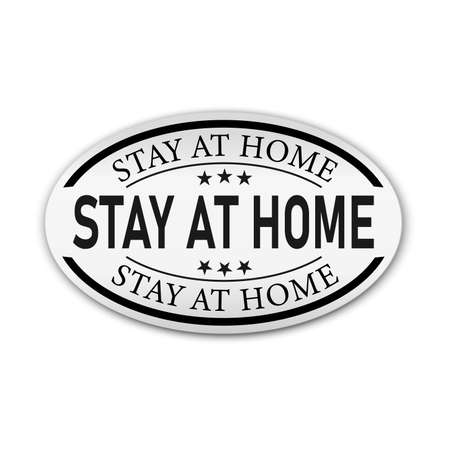 stay at home banner design on white background, vector illustration 일러스트