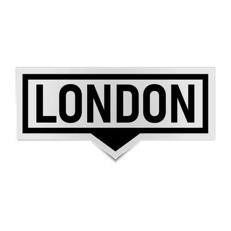 black london speech bubble icon. speech bubble