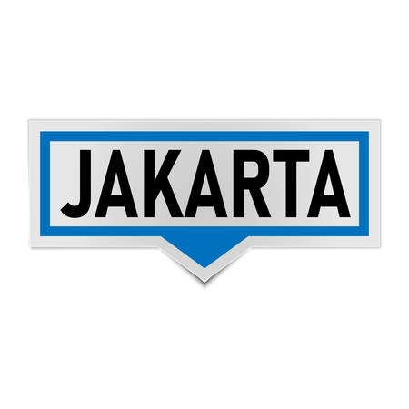 blue Speech bubble Jakarta vector illustration on a white background