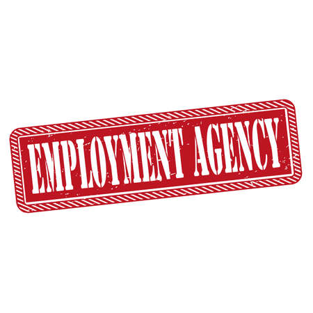red Employment agency rubber grunge stamp on a white background