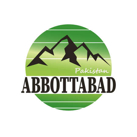 ABBOTTABAD Pakistan badge. round Pakistan logo. Vector illustration.