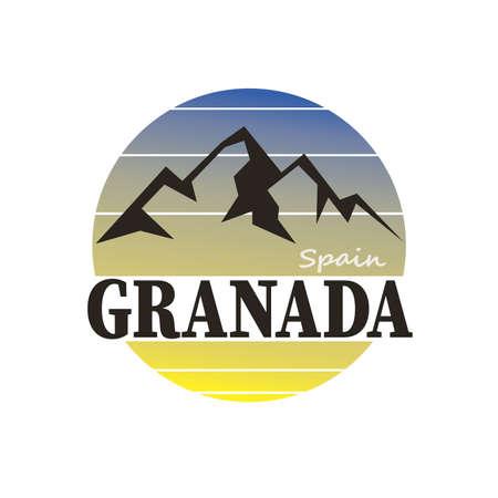 Granada Andalucia Espa a Europa Stamp Logo Icon Symbol Design.