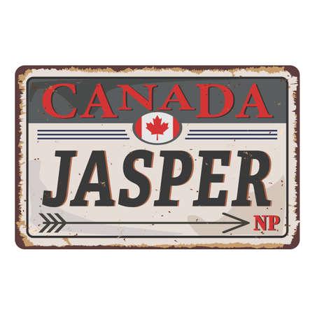 Jasper National Park Canadian mountains icon. Simple illustration.