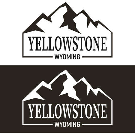 Yellowstone national park Vintage vector of wilderness and nature exploration Logo - Vintage vector with grunge textures.