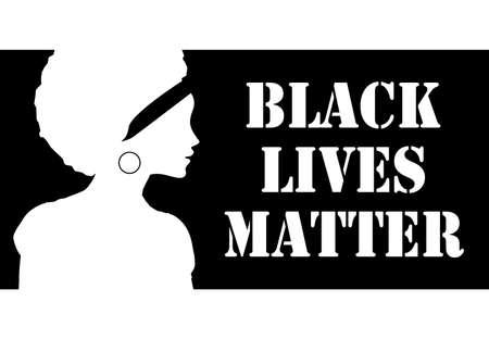Black Lives Matter concept. Template for background, banner, poster with text inscription. Vector EPS10 illustration Иллюстрация