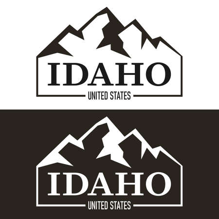 United States of America. Idaho logo emblem. Vector illustration.