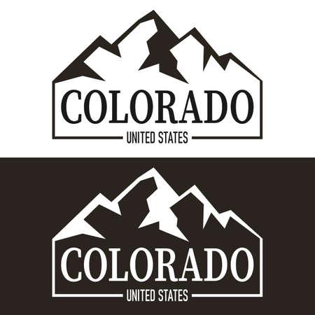 Colorado print design. Tee print design on a white background 向量圖像