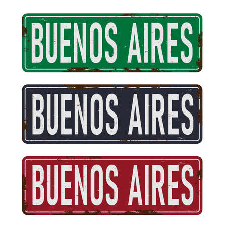 Buenos Aires, road sign vector illustration, road table, road signs