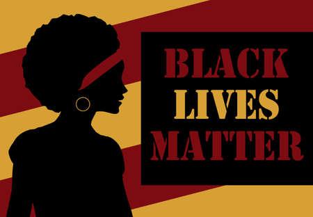 Black Lives Matter concept. Template for background, banner, poster with text inscription. Vector EPS10 illustration 向量圖像