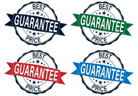 Grunge best price guarantee rubber stamp set vector illustration