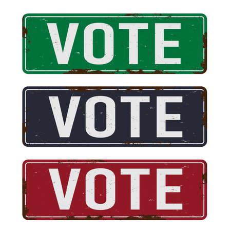 Vote - Presidential Election Poster METAL VINTAGE SIGN