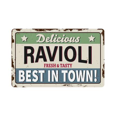 Italian pasta ravioli vector vintage posters.