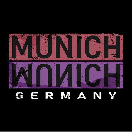 munich,t-shirt print poster vector illustration on white
