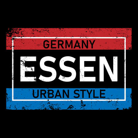 Essen German city logo vector. Modern typography for apparel, sticker, souvenir, advertising. High quality. Иллюстрация