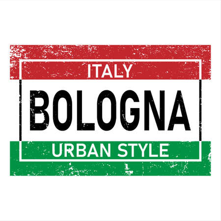 Bologna Isolated on White Background. Vector Illustration print shirt design