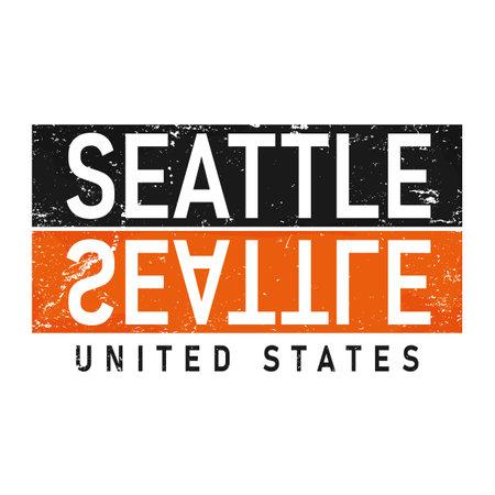 Seattle Washington UAS Lettering Vector Design. for print an t-shirt design