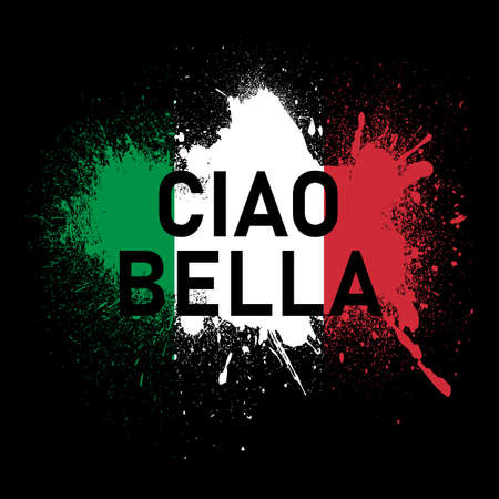 Bella ciao article, fashion slogan and for different jobs. italian translation beautiful hello Ilustracje wektorowe