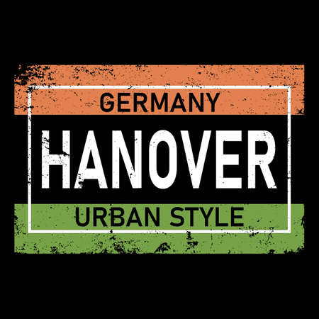 Hanover. Colorful typography text banner. Vector the word hanover design. Can be used to logo, card, poster, heading and beautiful title