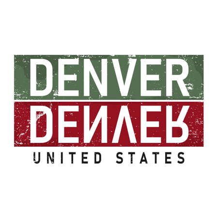 Denver,Colorado.vintage and typography design in vector illustration.clothing,apparel and other uses.Eps10