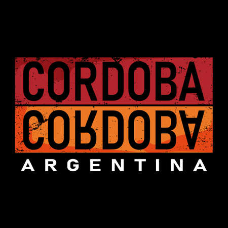 Cordoba argentina lettering in original style. city typographic script font for prints, advertising, identity Illusztráció