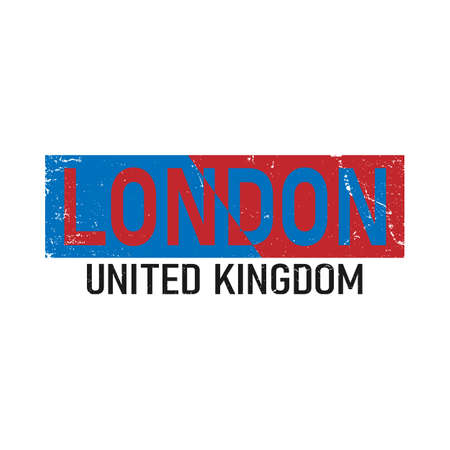 London Slogan typography Graphic artistic concept for trendy t shirt print, illustration art - vector