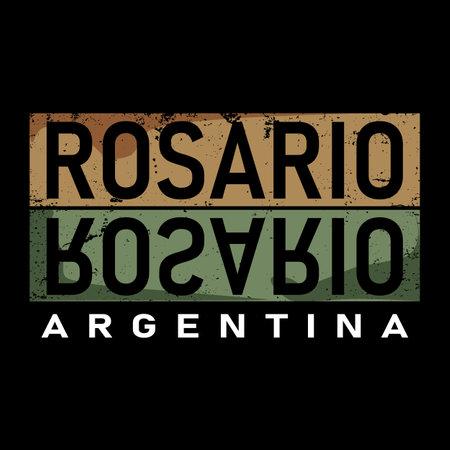 Rosario Word Text Vector Illustration. t-shirt print