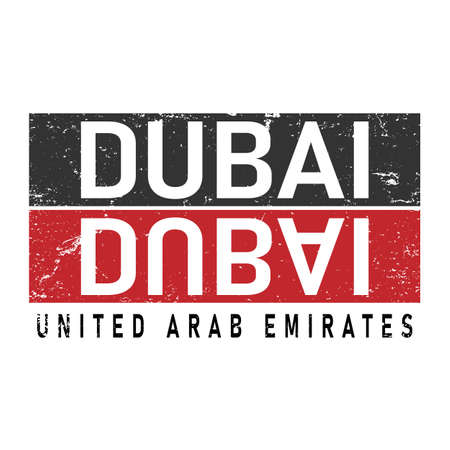 Dubai typography design vector, for t-shirt, poster and other uses