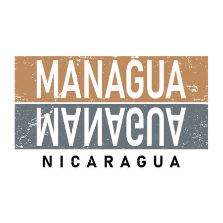Managua capital word city typography hand written. Can be used for a sticker, logo or branding.