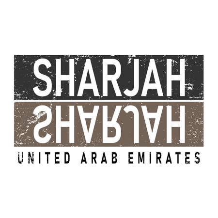 Sharjah Logo illustrator style specially for Arabic Logos and Sharjah events and print