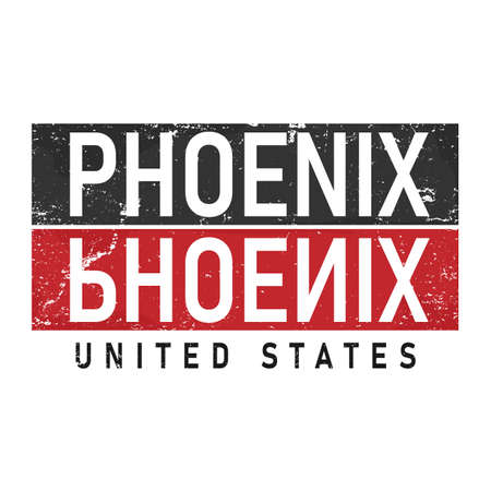Illustration vector graphic of lettering, phoenix, perfect for t-shirts design, clothing, hoodies,