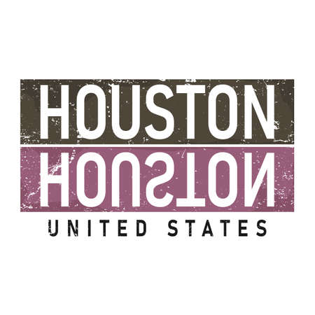 Houston typography design vector, for t-shirt, poster and other uses