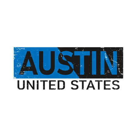 Austin typography design vector, for t-shirt, poster and other uses