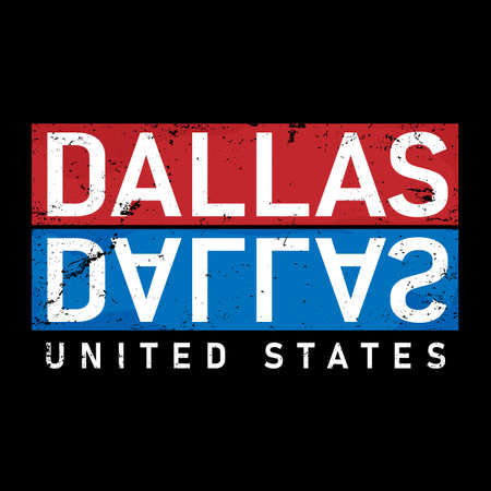 Dallas typography design vector, for t-shirt, poster and other uses