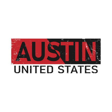 Austin typography design vector, for t-shirt, poster and other uses Vector Illustration